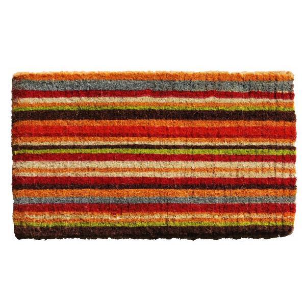 multistripe extrathick coir doormat 1u00276 x