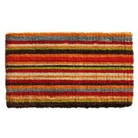 Multi-stripe Extra-thick Coir Doormat (1'6 X 2'6)