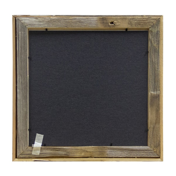 Set of 2-12x12 Square Black Wood Picture Frames and Clear Glass