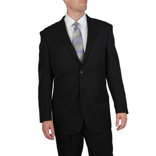 Bolzano Uomo Collezione Men's Big & Tall Black Pleated Pant Suit