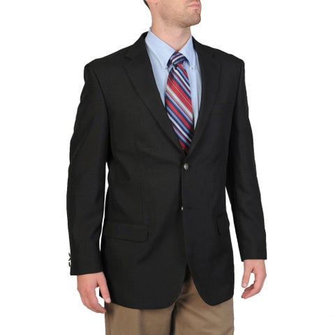 Bolzano Men's Big & Tall Black Sportcoat