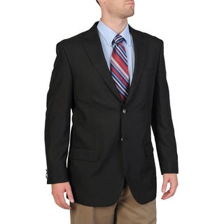 Bolzano Men's Big & Tall Black Sportcoat