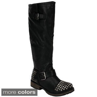 Breckelle's Women's 'Trooper-13' Studded Riding Boots