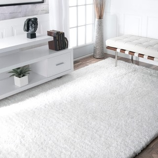 nuLOOM Handmade Solid Soft Plush Shag Rug (6' x 9')