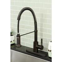 Modern Oil Rubbed Bronze Spiral Pull-down Kitchen Faucet