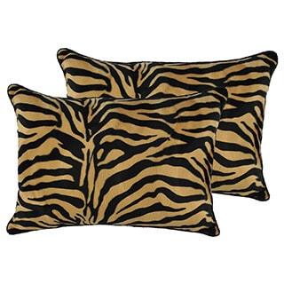 Sherry Kline Zebroides Plush Boudoir Throw Pillows (Set of 2)
