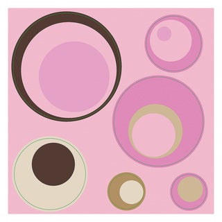 Pink Spheres Peel and Stick Wall Decals