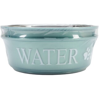 Food & Water Set Large 2qt-Teal