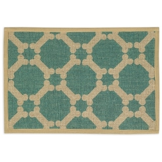 "Natural Jute Placemats 13""X9""-Teal"