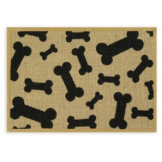 "Natural Jute Placemats 13""X9""-Black Bone"