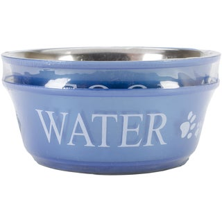 Food & Water Set Medium 1qt-Blue