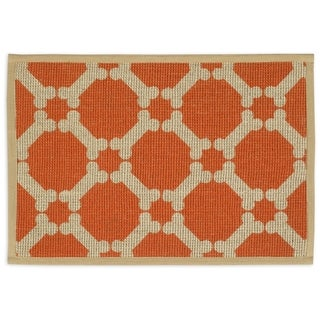 "Natural Jute Placemats 13""X9""-Orange"
