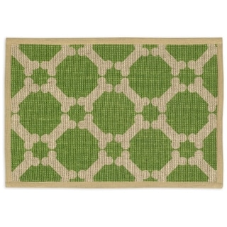 "Natural Jute Placemats 13""X9""-Green"