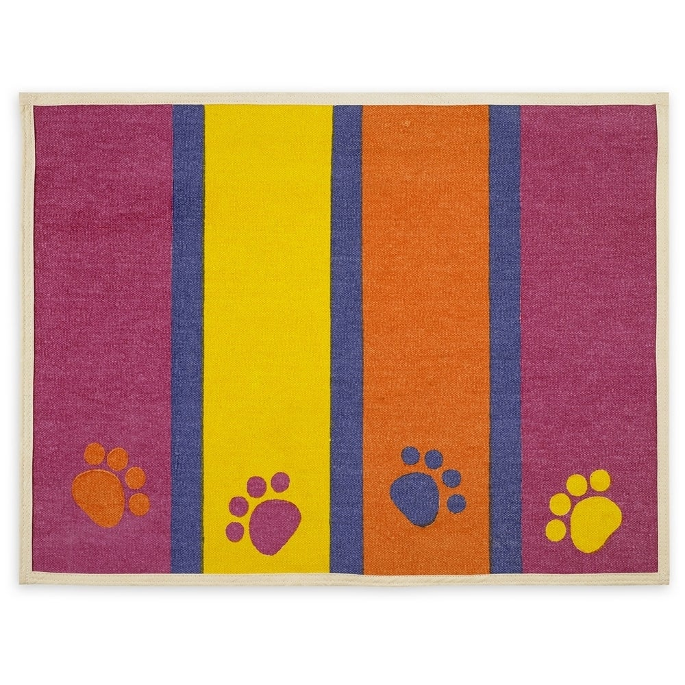 "Buddy Products Fashion Forward Cotton Mat 13""X25.5""-Paws ..."