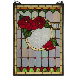 Morgan Rose Stained Glass Window Panel
