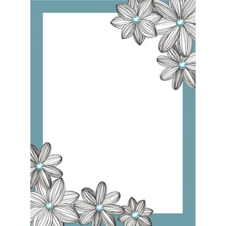 Jeweled Blue Daisy Dry Erase Message Board