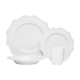 Red Vanilla Pinpoint White 16-piece Dinnerware Set