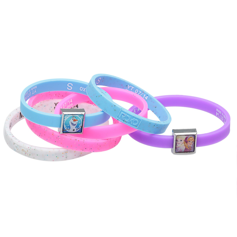 Qiyun Disney Frozen Roxo Interchangeable Charms Rainbow Loom Bracelet Kit New