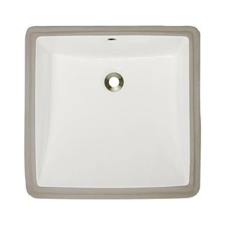 MR Direct U2230-B Bisque Undermount Porcelain Bathroom Sink