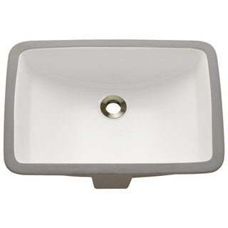 u1913 Rectangular Porcelain Undermount Bathroom Sink