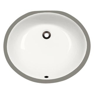 MR Direct UPM-B Bisque Porcelain Bathroom Sink