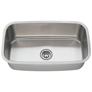 MR Direct 3118 Single Bowl Stainless Steel Kitchen Sink