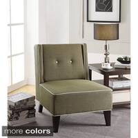 Ave Six Marina Accent Chair with Inner Box Spring and Solid Wood Legs