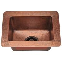 905 Small Single Bowl Copper Sink