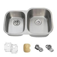 503 Offset Double Bowl Stainless Steel Sink