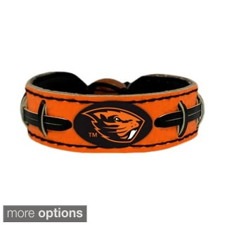 GameWear NCAA Football Team Logo Leather Bracelet (O-W)