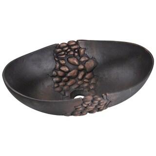 958 Bronze Blackened Vessel Sink - Black