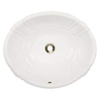 MR Direct o1815 Porcelain Vessel / Drop-In Bathroom Vanity Sink