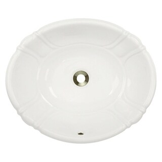 MR Direct O1815-B Bisque Porcelain Vessel / Drop-in Bathroom Vanity Sink