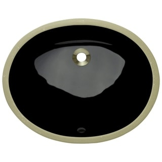 MR Direct UPS-Bl Black Porcelain Bathroom Sink