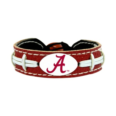 GameWear NCAA Football Team Logo Leather Bracelet (A-O)