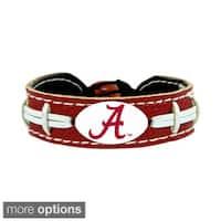 GameWear NCAA Football Team Logo Leather Bracelet (A-O)