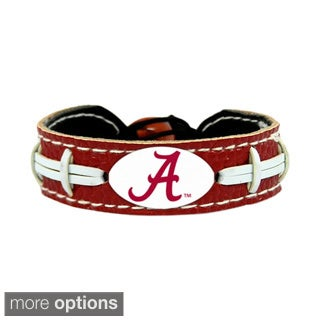 GameWear NCAA Football Team Logo Leather Bracelet (A-O) (More options available)