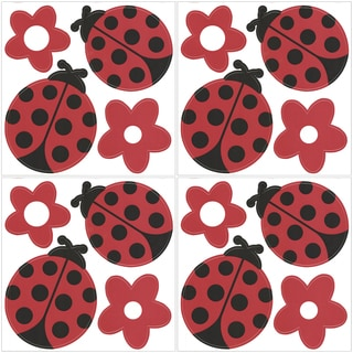 Ladybugs and Flower Wall Decals