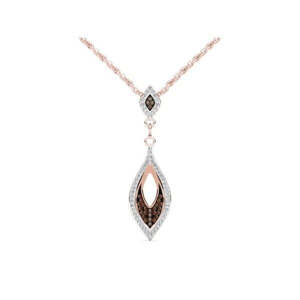 De Couer 10k Rose Gold 1/5ct TDW Cognac Diamond Necklace