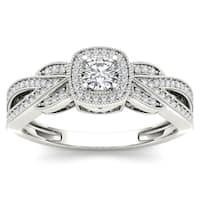 De Couer 10k White Gold 2/5ct TDW Diamond Engagement Ring