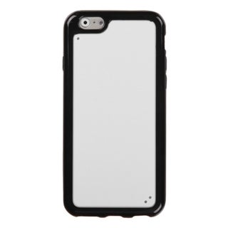 INSTEN Glassy Solid White and Black Gummy Cover For Apple iPhone 6