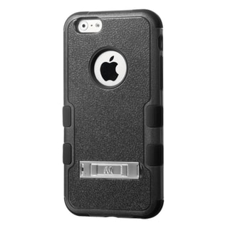 INSTEN Black TUFF Hybrid Phone Protector Cover with Stand For Apple iPhone 6