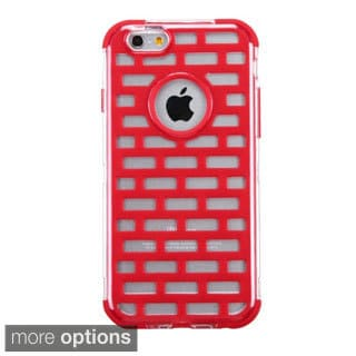INSTEN T-Clear Brick Pattern GloCase Hybrid Phone Cover For Apple iPhone 6