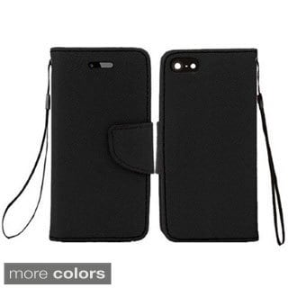 INSTEN Premium Leather Flip Wallet Cover Case with Card Slot For Apple iPhone 6