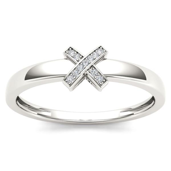 192b5679113 Shop De Couer IGI Certified Sterling Silver 1/20ct TDW Diamond ...