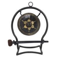 Handmade Iron Brass 'Thai Harmony' Gong (Medium) (Thailand)