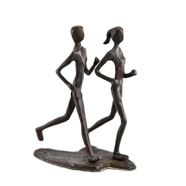 Couple Jogging Bronze Sculpture