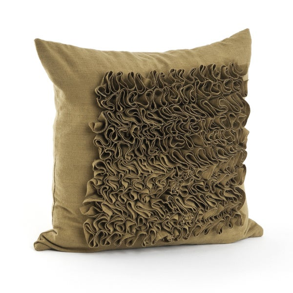 Throw Pillows With Feather Design : Ruffled Design 17-inch Feather Filled Throw Pillow - Free Shipping Today - Overstock.com - 16727587