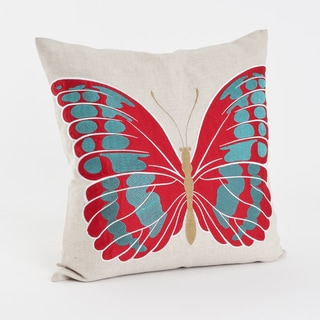 Embroidered and Applique Down Filled Throw Pillow