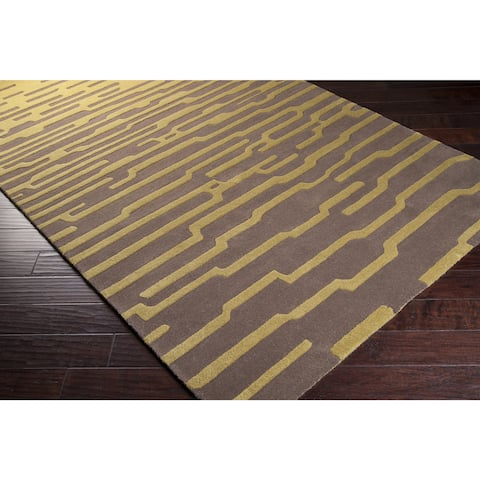 Hand-Tufted Cynthia New Zealand Wool Abstract Area Rug - 9' x 12'/Surplus